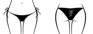 Side Tie Banded Scrunch Rio 1/2