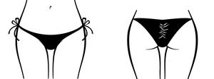 Low Cut Side Tie Scrunch Rio Back