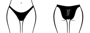 High Cut Scrunchie Butt Brazlian 3/4
