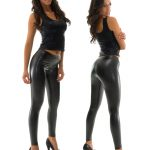 black snakeskin vinyl lycra tights leggings pants