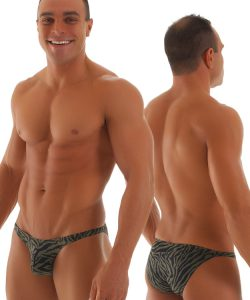 mens zebra bikni swimsuit