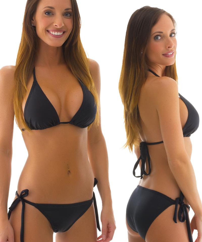 black tie side bikini